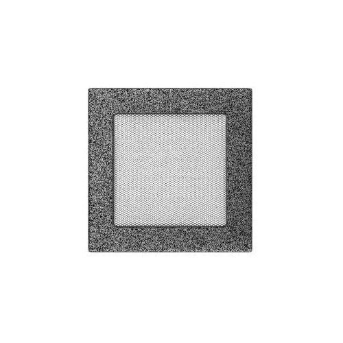 Kratka kominkowa CZARNO-SREBRNA 17x17 KNAP, 17CS