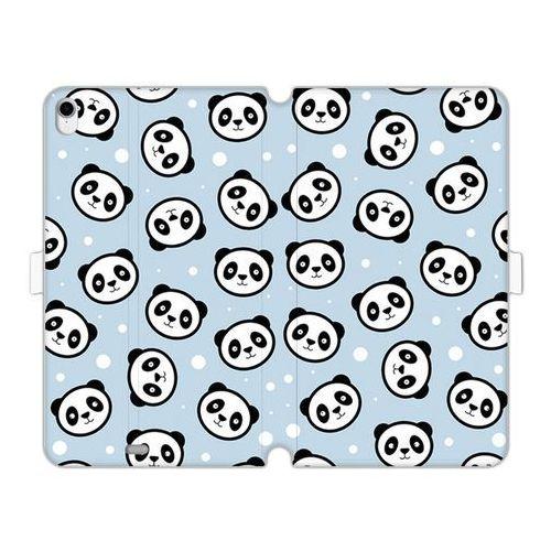 Apple iPad Pro 11 - etui na tablet Wallet Book Fantastic - panda na niebieskim tle, kolor niebieski