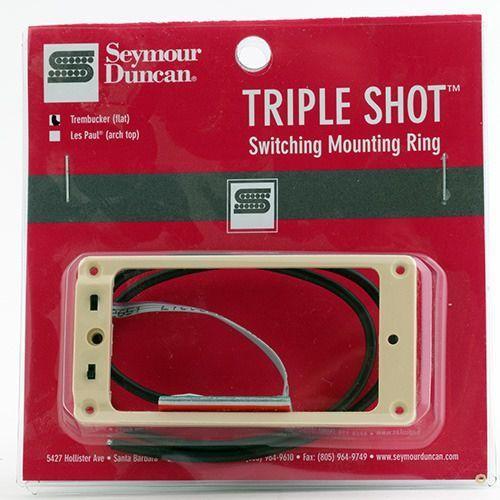 sts 1 blk triple shot, neck/bridge switching mounting ring, flat/trembucker - creme marki Seymour duncan