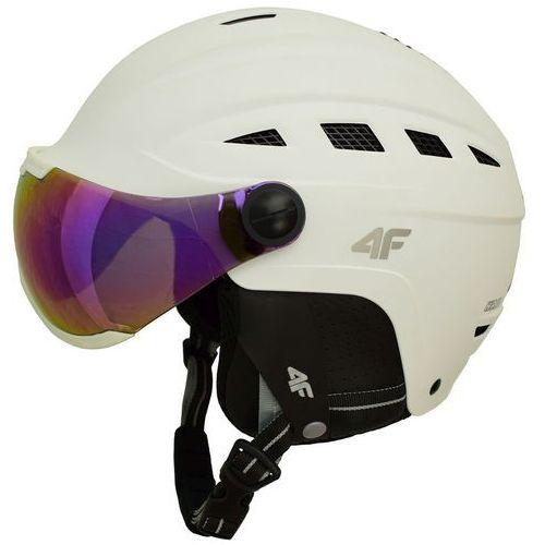 4f Kask narciarski h4z17 ksu002 biały l 59-60 cm