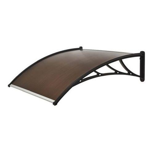 Zadaszenie PCV Geom 120 x 100 cm brązowo-czarne, RC011