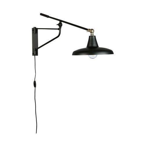 Dutchbone lampa ścienna hector czarna 5400031 (8718548041615)