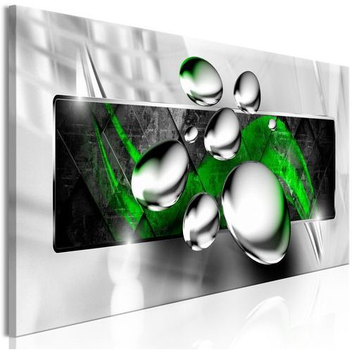 Obraz - Błyszczące kamienie (1-częściowy) wąski zielony