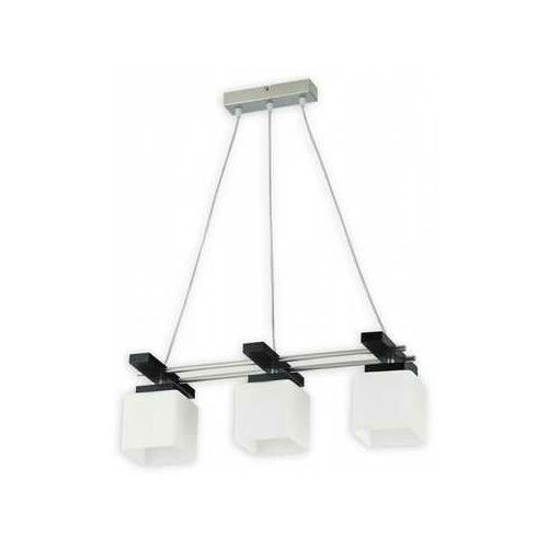 arnedo o1673 wg lampa wisząca zwis 3x60w e27 satyna / wenge marki Lemir