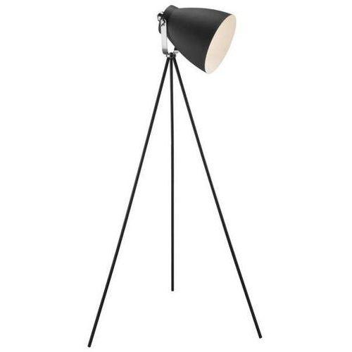Lampa podłogowa largo 46704003 metalowa oprawa stojąca loftowy reflektorek na trójnogu czarny marki Nordlux