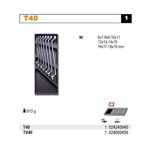 Beta Wkład profilowany twardy do zestawu narzędzi 2424/t40, pusty, model 2400/tv40