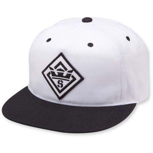 czapka z daszkiem SUPRA - Stncl Ptch Slidr Hat Black/White (002) rozmiar: OS