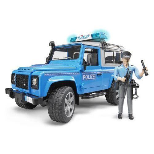 Samochód land rover defender policyjny z figurką