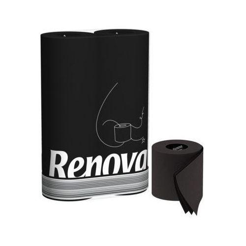 Renova 6szt czarny portugalski papier toaletowy