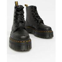 Dr martens molly black glitter chunky flatform boots - black