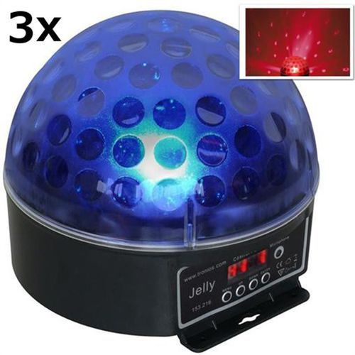 Beamz Magic Jelly DJ-Ball Zestaw 3 x Efekt świetlny kula LED RGB DMX