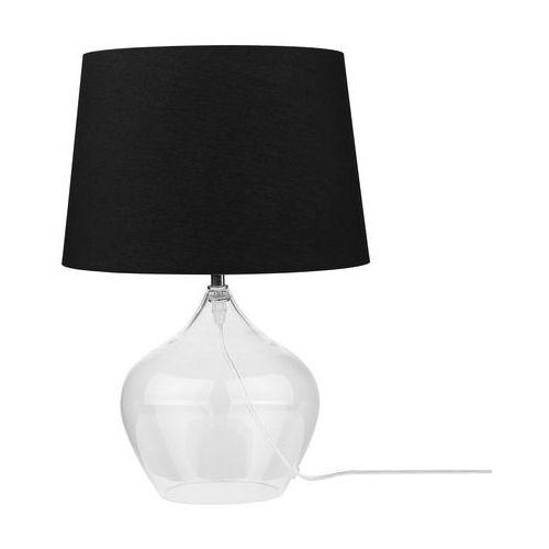 Beliani Lampa stołowa szkło przezroczyste/czarna 45 cm osum (4260624117461)