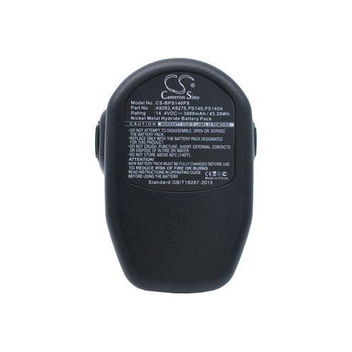 Black&Decker CD1402K2 / A9262 3000mAh 43.20Wh Ni-MH 14.4V (Cameron Sino), CS-BPS140PX