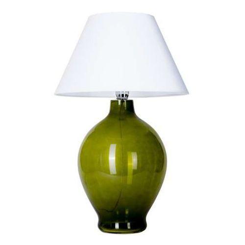 4concepts Lampa stołowa lampka genova 1x60w e27 biały/zielony l011011215 (5901688142127)