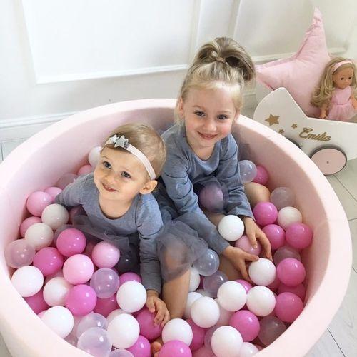 Meow Pastelowy basen kolor pudrowy róż + piłki do wyboru