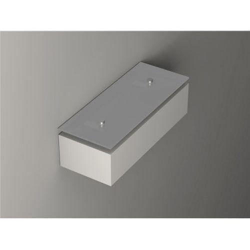 Korytko 30 niskie pełne z górnym szkłem - kinkiet gipsowy  - gk600g 6671/s, marki Cleoni