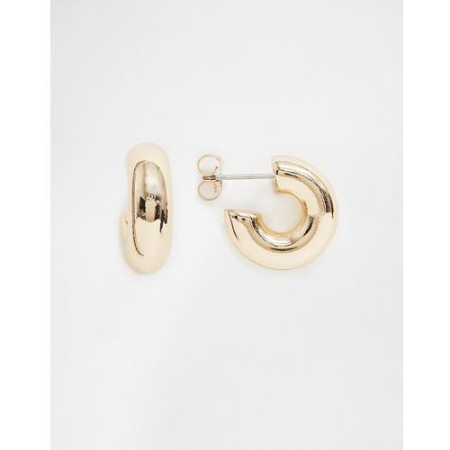 small thick hoop earrings in gold - gold marki Weekday