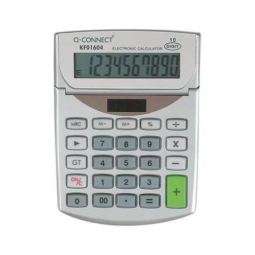 Kalkulator biurkowy Q-CONNECT 10-cyfrowy, 102x140mm, szary (5705831016040)
