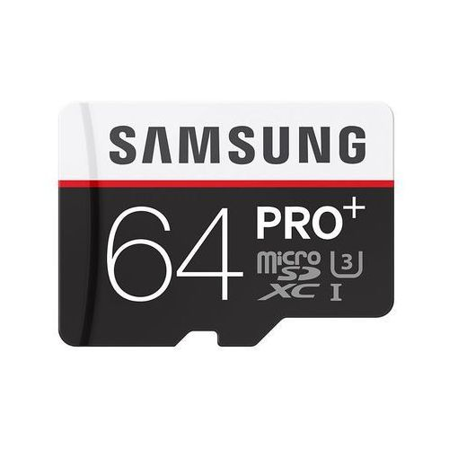 Samsung karta pamięci PRO+ microSDXC 64GB Class 10 UHS-I Odczyt:Zapis 95/90MB/s - produkt z kategorii- Karty pamięci