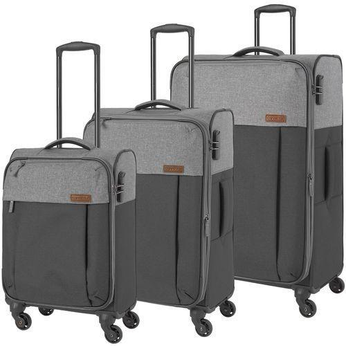 Travelite neopak zestaw walizek / komplet / walizki na 4 kółkach / szary - antracyt (4027002064874)