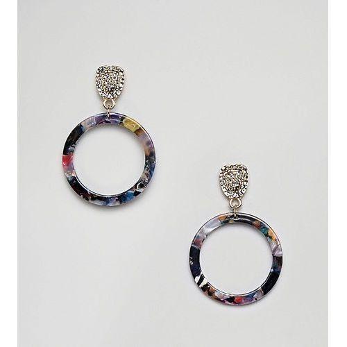 circle drop resin earrings - multi marki Glamorous