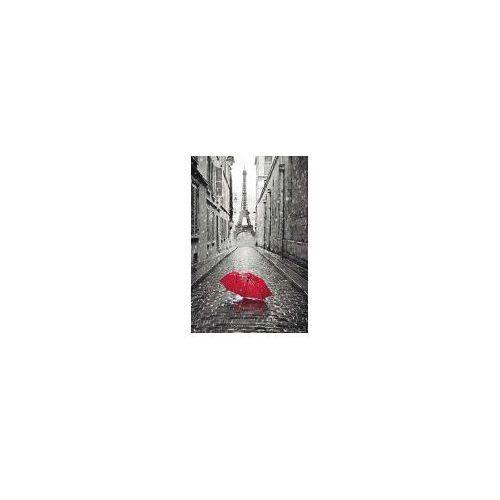 Paryż wieża eiffla czerwona parasolka - plakat marki Galeria plakatu