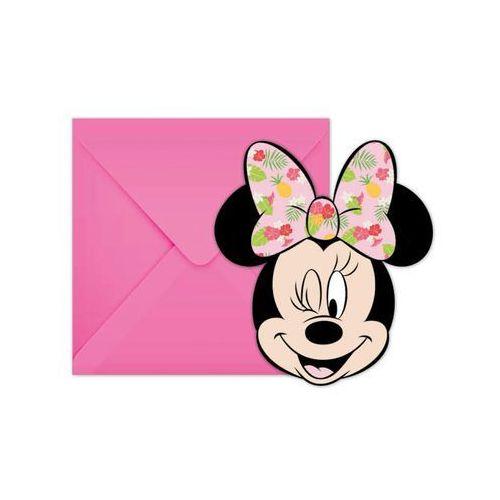 Zaproszenia urodzinowe tropikalna myszka minnie - 6 szt. marki Procos disney