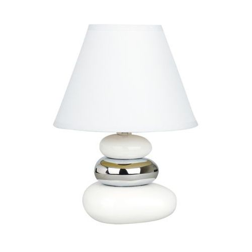 Lampa oprawa stołowa Rabalux Salem 1x40W E14 biały/srebrny 4949