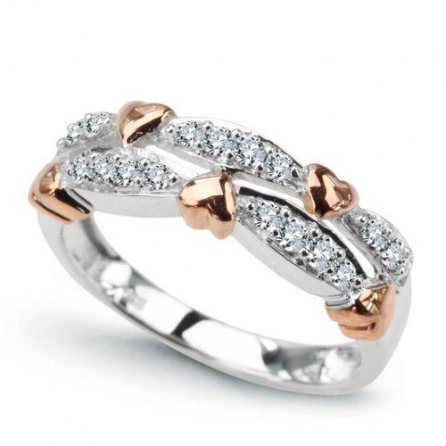 Złoty pierścionek PXD4053 - Diament