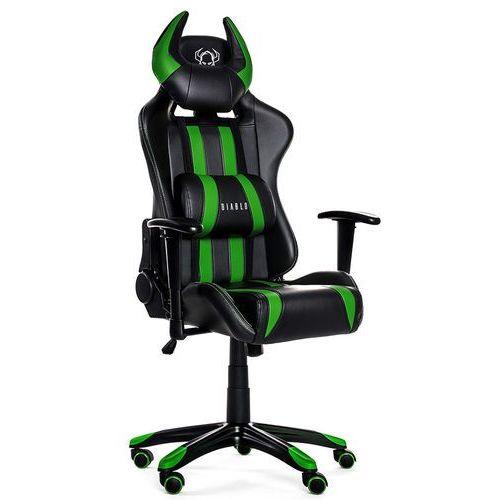 Fotel x-one horn czarno-zielony + zamów z dostawą jutro! + darmowy transport! marki Diablo