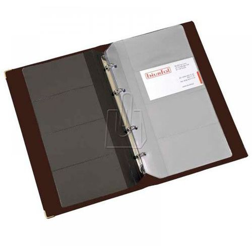 Coba Wizytownik biurfol 200 wizytówek ringi brązowy (5907214102337)