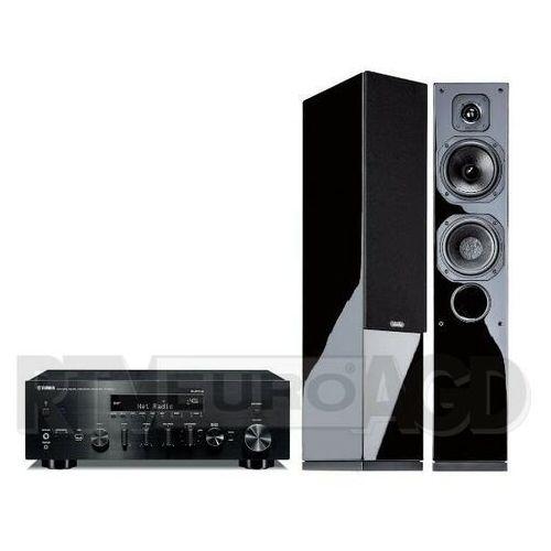 Yamaha MusicCast R-N803D (czarny), Indiana Line Diva 552 (czarny połysk) (0000001205371)