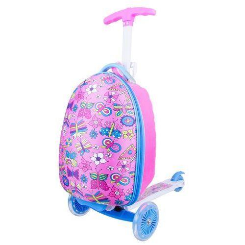 Worker Hulajnoga trójkołowa z plecakiem dla dzieci lagy - kolor różowy (8596084032560)