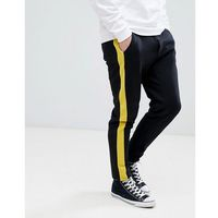 Stradivarius Side Stripe Jogger In Black - Black