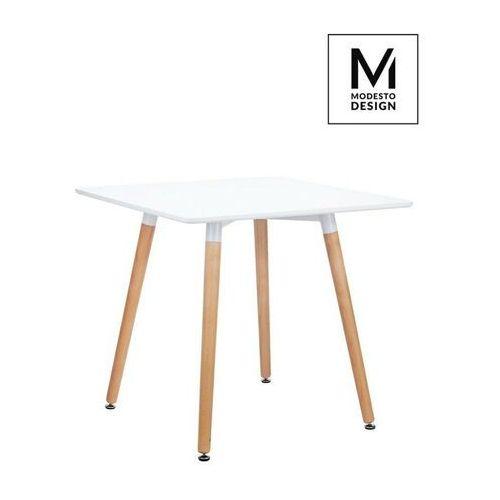 Modesto stół consul biały - blat mdf, podstawa drewniana marki Sofa.pl