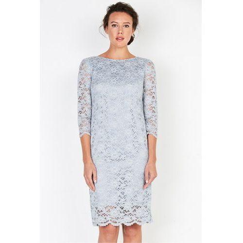 Szara sukienka z koronki - Patrizia Aryton, kolor szary
