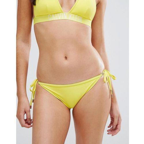Calvin Klein Cheeky String Tie Side Bikini Bottom - Yellow