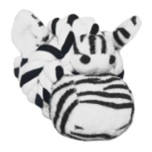 Zebra z dźwiękiem - zabawka dla psa Knottie Head Zebra