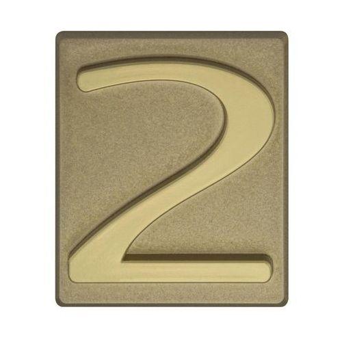 Cyfra 2 wys. 5 cm PVC oliwkowa