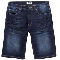 Bermudy dresowe w optyce dżinsu Regular Fit bonprix ciemnoniebieski, kolor niebieski