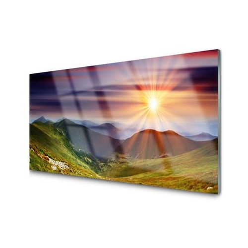 Tulup.pl Obraz akrylowy góry zachód słońca krajobraz