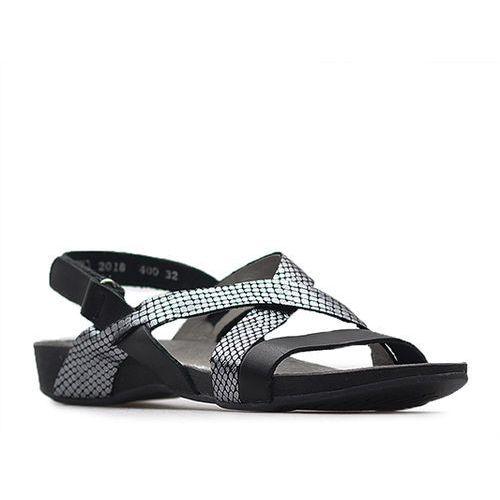Sandały 40032 czarne+ moro czarne, Lemar