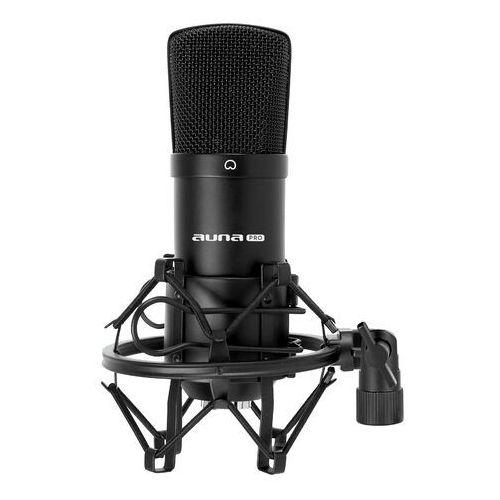 Auna cm001b studyjny mikrofon pojemnościowy xlr czarny (4260359381465)