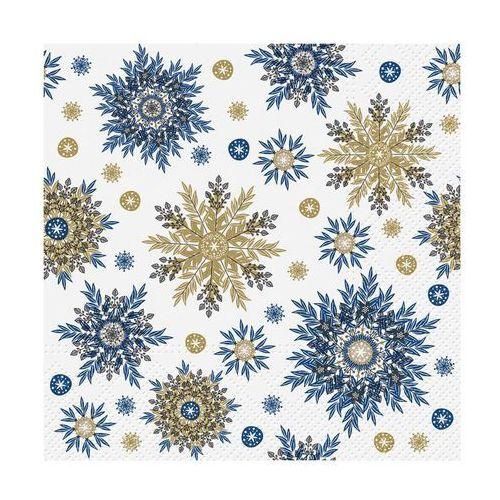 Serwetki świąteczne SNOWFLAKES NAVY BLUE 33 x 33 cm 20 szt.