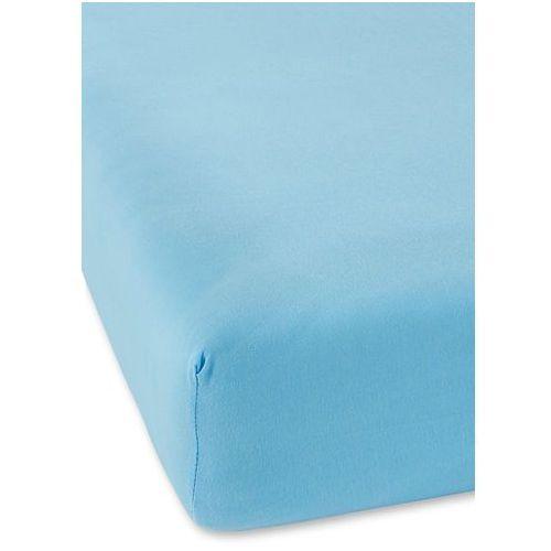 Bonprix Prześcieradło z gumką z wysokiej jakości dżerseju jasnoniebieski