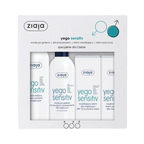 yego sensitiv zestaw kosmetyków dla mężczyzn (krem + krem pod oczy + woda po goleniu + żel) marki Ziaja