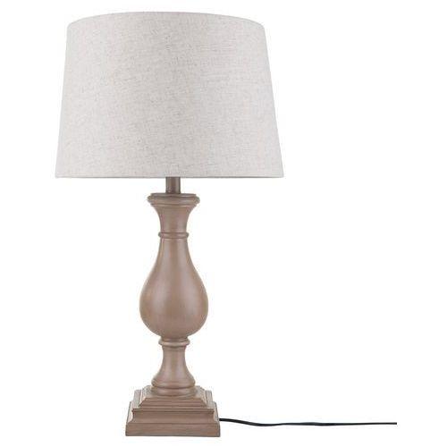 Beliani Lampa stołowa jasny brąz/beżowa 68 cm tuddi (4260624115436)