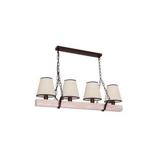 Luminex Lampa wisząca adria 8729 lampa sufitowa 4x60w e14 brąz / beż (5907565987294)