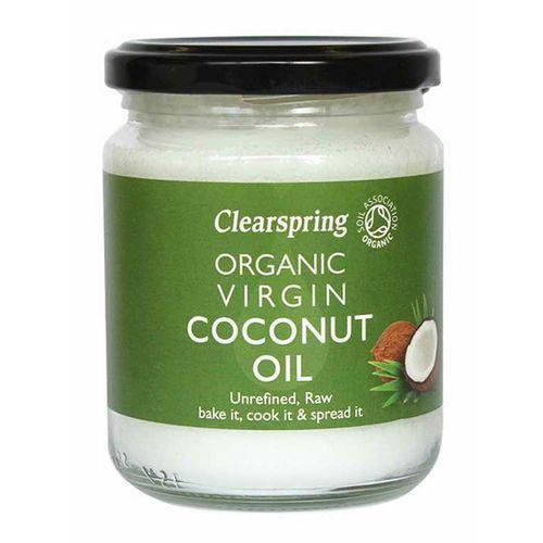 Olej kokosowy virgin BIO 200 g / 220 ml Clearspring (5021554988571)