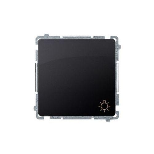 SIMON BASIC Przycisk światło (moduł) 10AX, 250V~, szybkozłącza; grafit matowy BMS1.01/28 WMUL-080xxx-G011